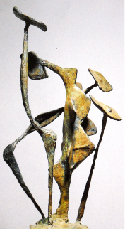 Access to the 1956 to 1967 biography. 'Haut de chose' ( 'Upper of Thing'), bronze (1950). © All rights reserved