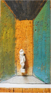 Access to the 1968 to 1990 biography. Untitled, plaster and painted cork (1968). © All rights reserved